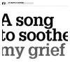 A Song To Soothe My Grief, Irish Independent Weekend Magazine, 13/03/10